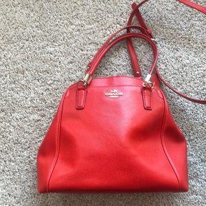 Cherry red Coach shoulder bag
